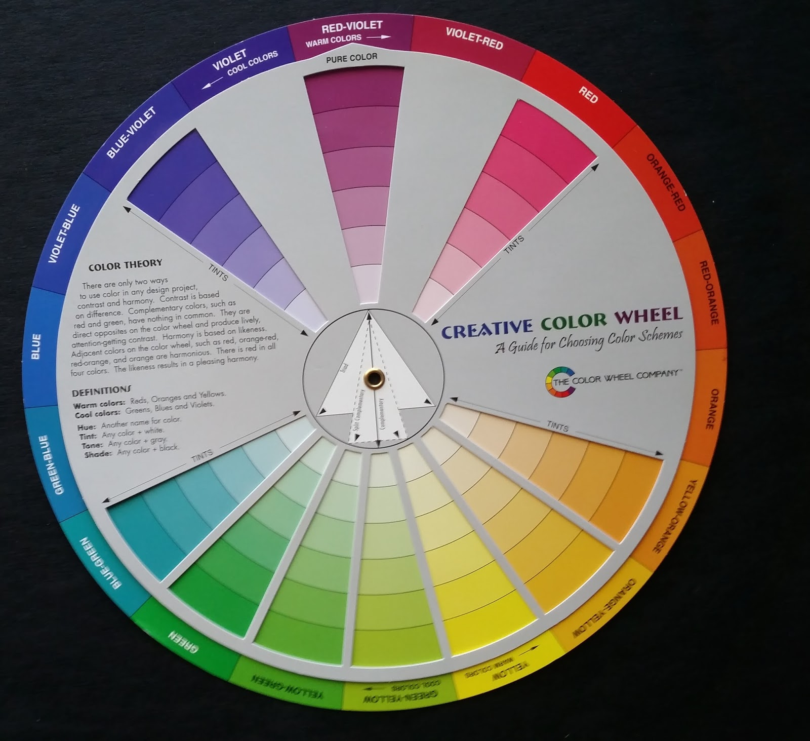 The Hue Colors On This Wheel Are Quite Different From Standard Triadic Color So It Will Be Important To Match My Paints With If I Am