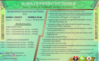Lomba Menulis Cerpen dan Esai Nasional 2016