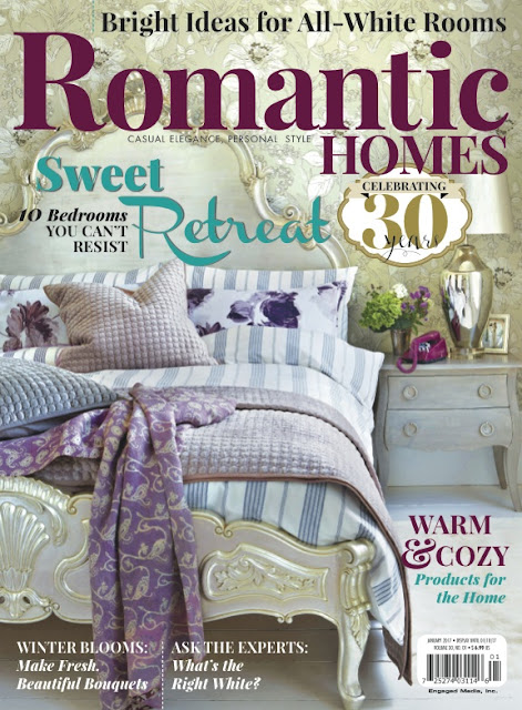 Our Home in the January 2017 Issue of Romantic Homes!