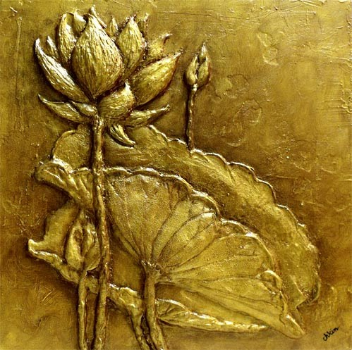 Image Result For Contemporary Lotus Flower Wall Art