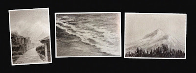 Charcoal sketchings created during an art workshop by Manju Panchal