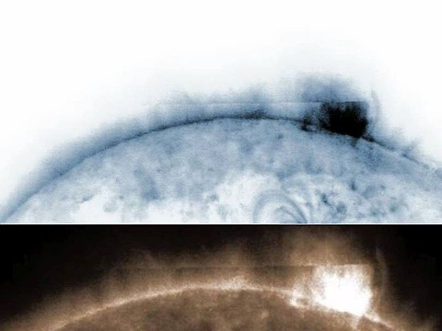 Giant Mysterious Rectangular Anomaly Emerges From Sun  Anomaly%2Bufo%2Bsun%2Bnasa%2B%25282%2529