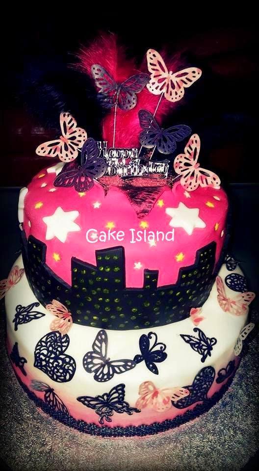 rózsaszín szülinapi torta Cake Island: Pink szülinapi torta rózsaszín szülinapi torta