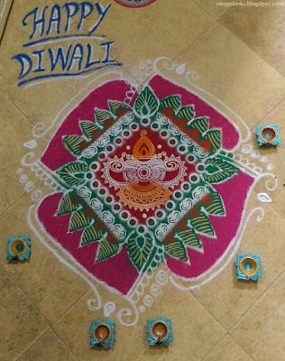 Rangolis for Diwali Festival