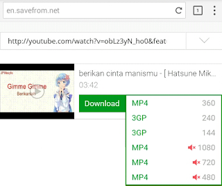 Cara Download Video Dari Youtube Dengan Savefrom.net