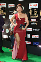 Natasha Nebasha in a Leg Slit Sleeveless Stunning Red Gown at IIFA Utsavam Awards 2017 087.JPG