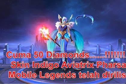 Cuma 50 Diamonds! Skin Indigo Aviatrix Pharsa Mobile Legends telah dirilis.