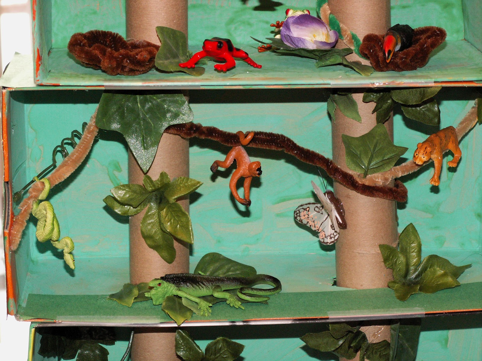 Kids Diorama With Details: Along The Way...: Rainforest Diorama