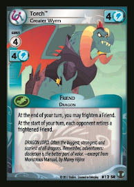 My Little Pony Torch, Greater Wyrm Defenders of Equestria CCG Card