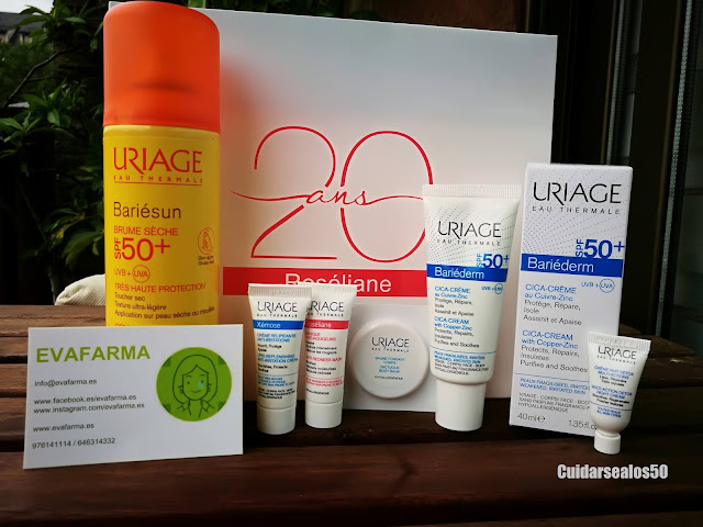 Productos Uriage que nos trajo Evafarma