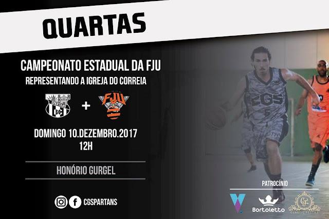 CG Spartans Basquete pega Del Castilho pelas quartas do Estadual FJU