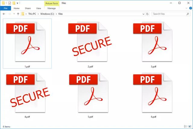 شرح وضع كلمة سر لملف pdf الخطوات المصورة بدون برامج اونلاين
