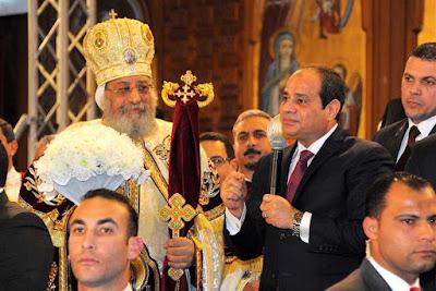 الرئيس عبد الفتاح السيسي و البابا تواضروس