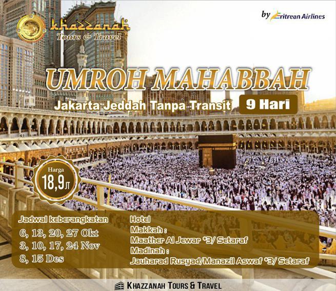 Travel Khazzanah Tour Umroh Mahabbah promo