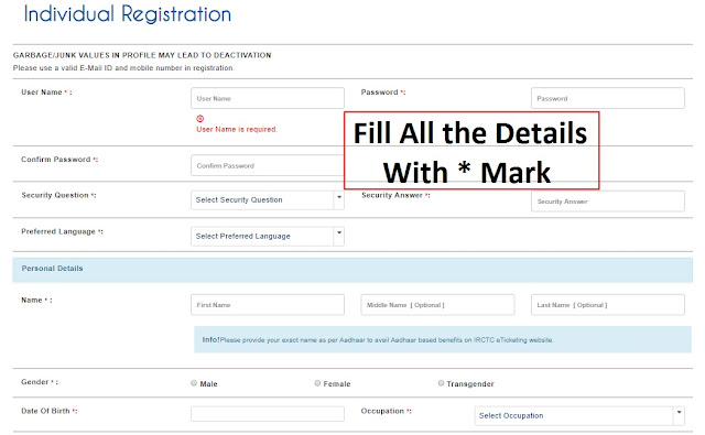 IRCTC Next Generation ID Registration - GoTechForum