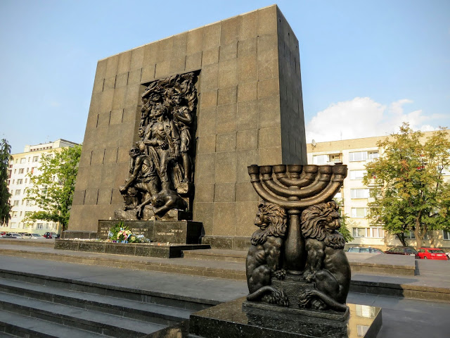 Memorial outside the POLIN Museum of History of Polish Jews in Warsaw