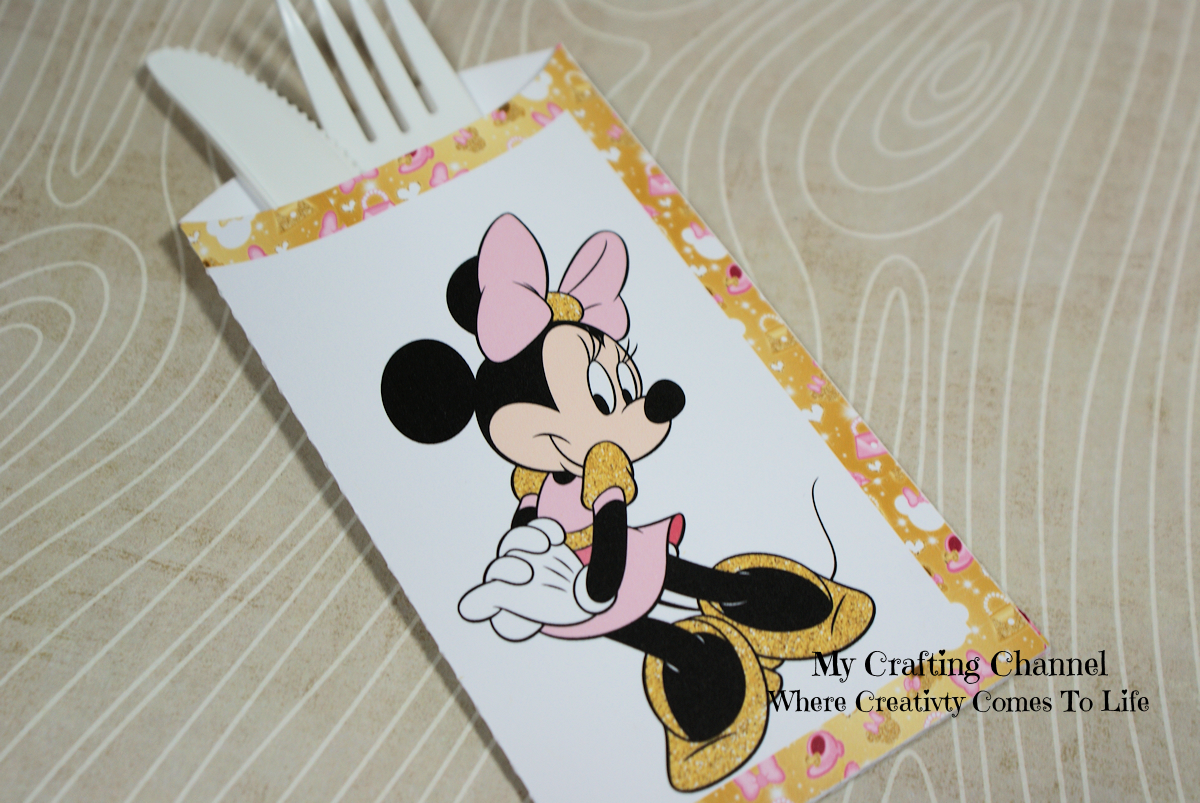 My Crafting Channel: Pink & Gold Minnie