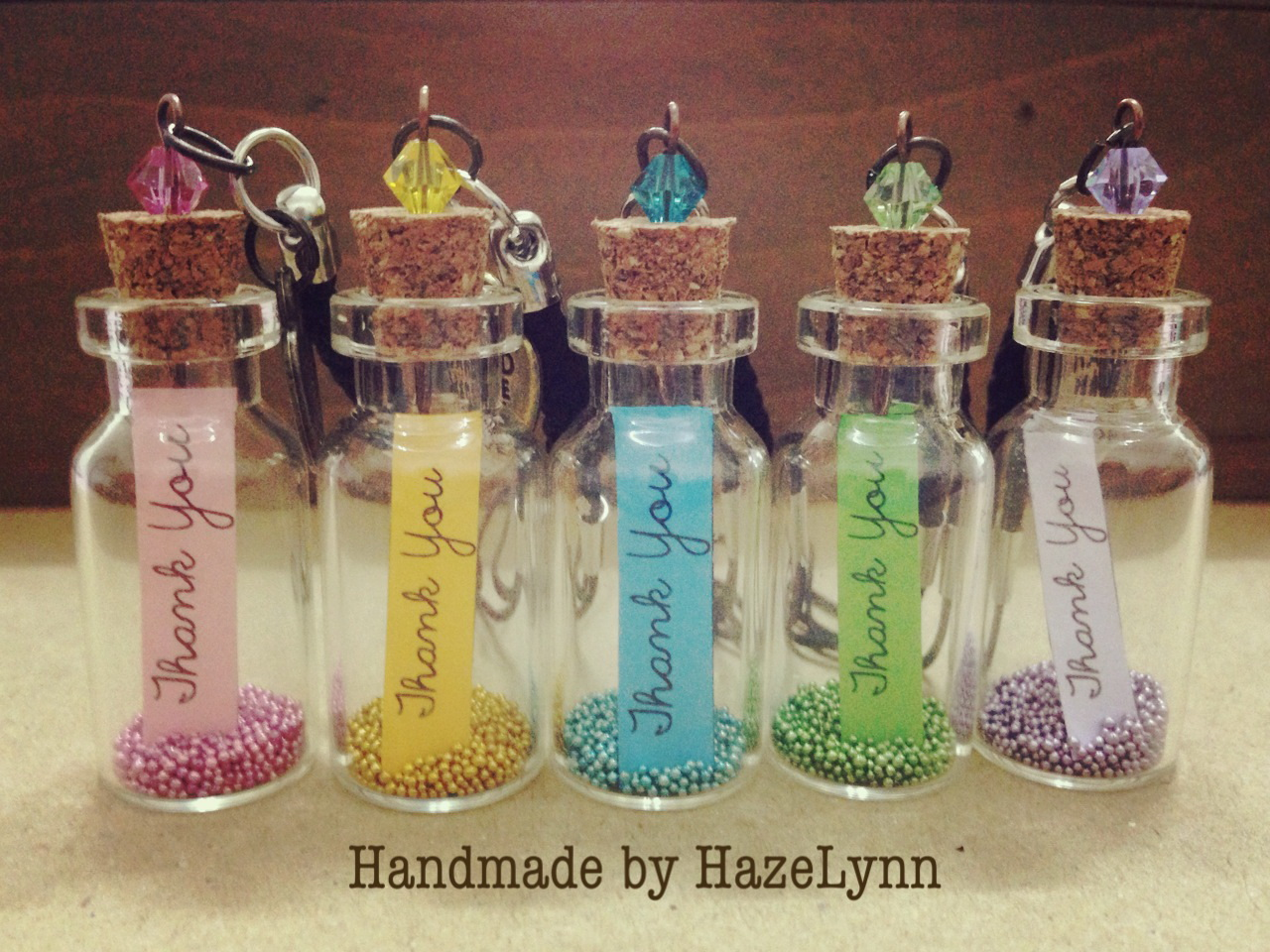 Gift For Guests At Wedding: Handmade By Hazelynn: Gift Idea: Thank You Bottle