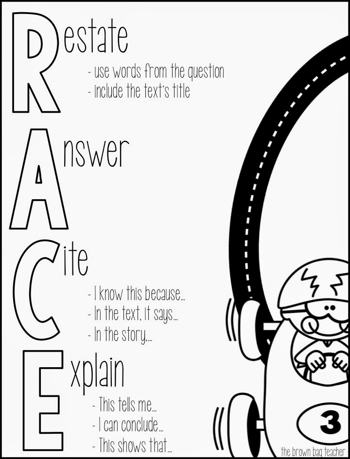 Race Writing Strategy Practice 5th Grade