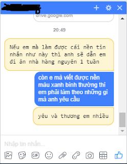 Hướng dẫn viết chữ nền vàng độc đáo trong chat facebook messenger