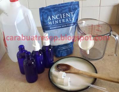 Foto Resep Magnesium Oil Homemade Sederhana Buatan Sendiri Ala Rumahan Untuk Kesehatan Manusia