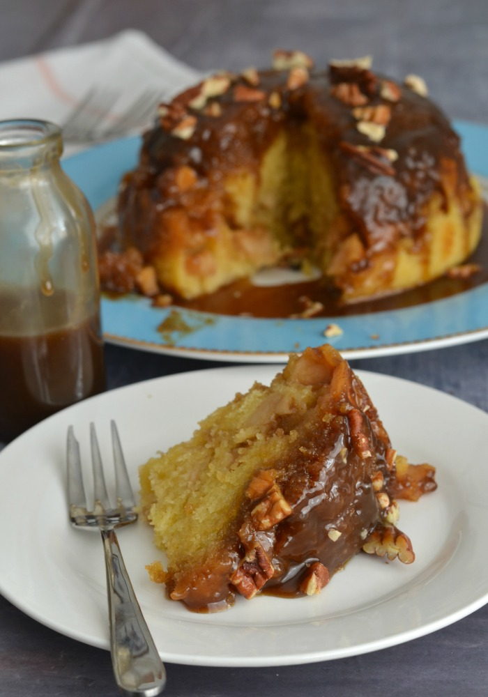 Toffee Apple & Pecan Steamed Pudding