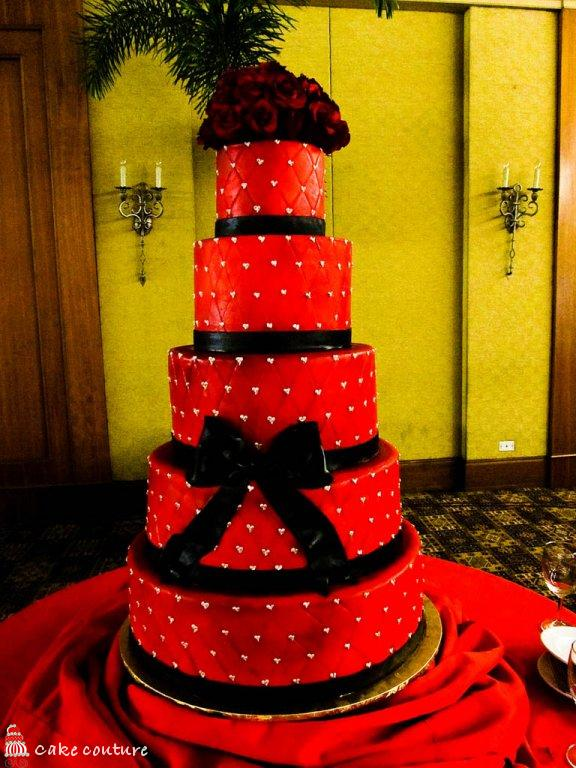 Saman s blog  A good deal from the wedding dress depends for the     black and red wedding cakes