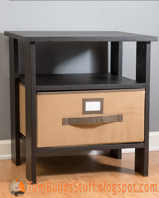 Easy simple plywood nightstand plans for Simple nightstand designs