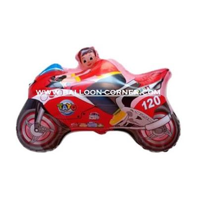 Balon Foil Karakter Motor Tayo (Merah)