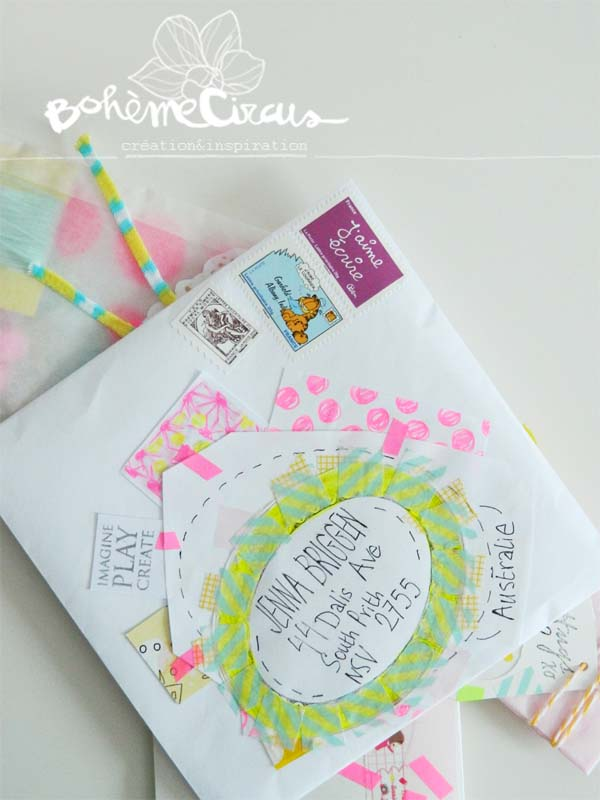 boheme circus - enveloppes - happy mail - art postal