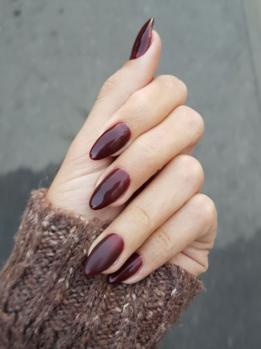 best burgundy nail design idea for this winter