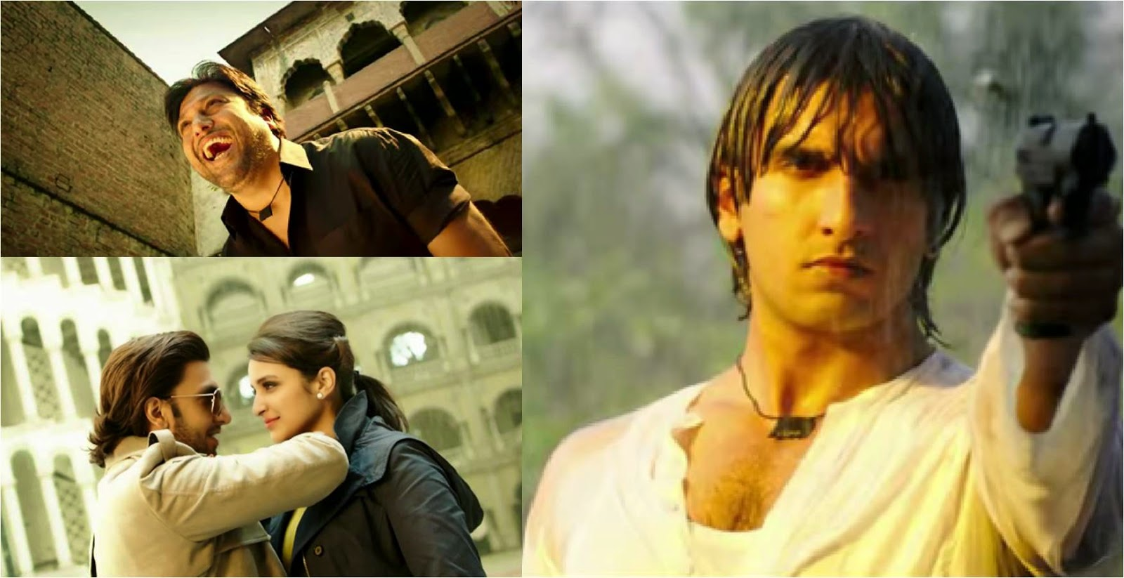 Govinda, Ranveer and Parineeti in Bollywood movie Kill Dil