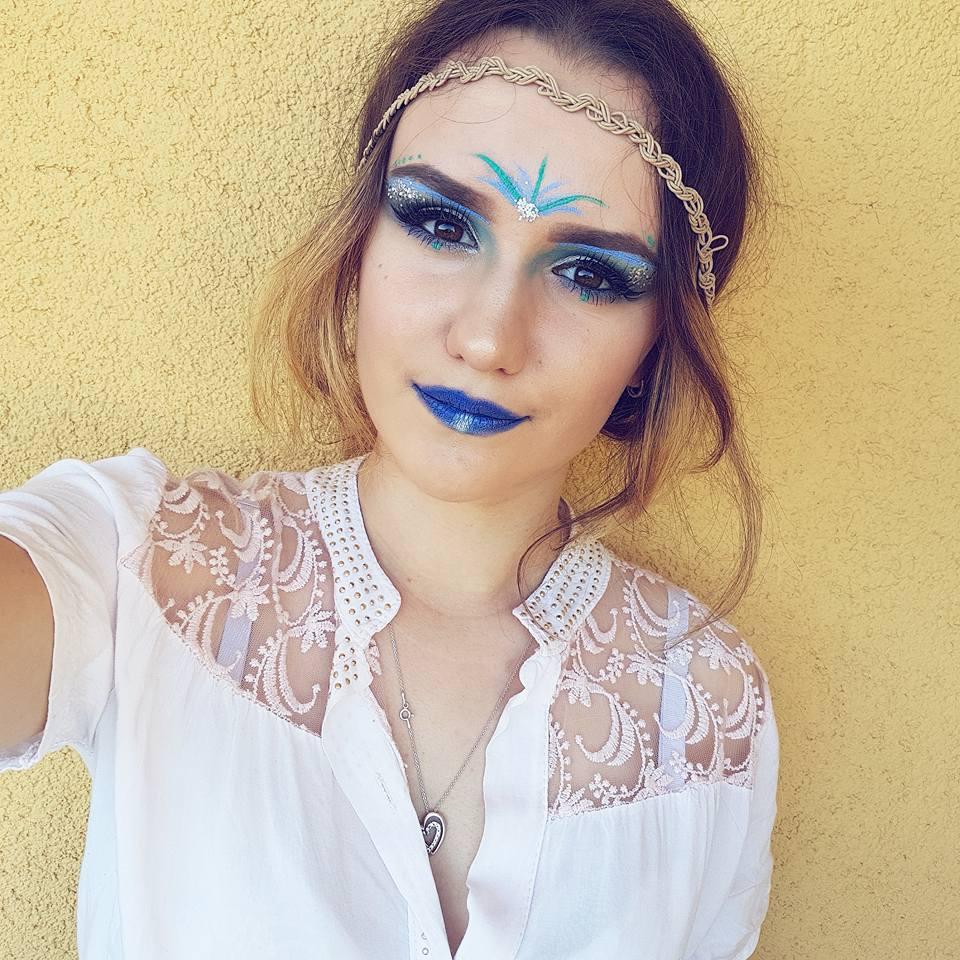 Make Yourself Up Niebieski Festiwalowy Makijaż Krok Po Kroku