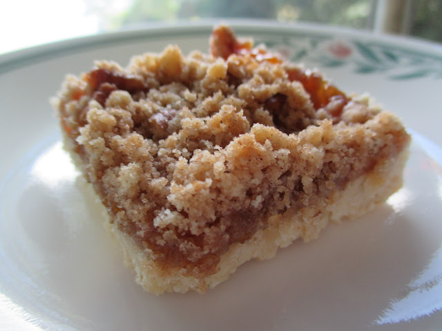 Peach Pie Bars with Pecan Streusel
