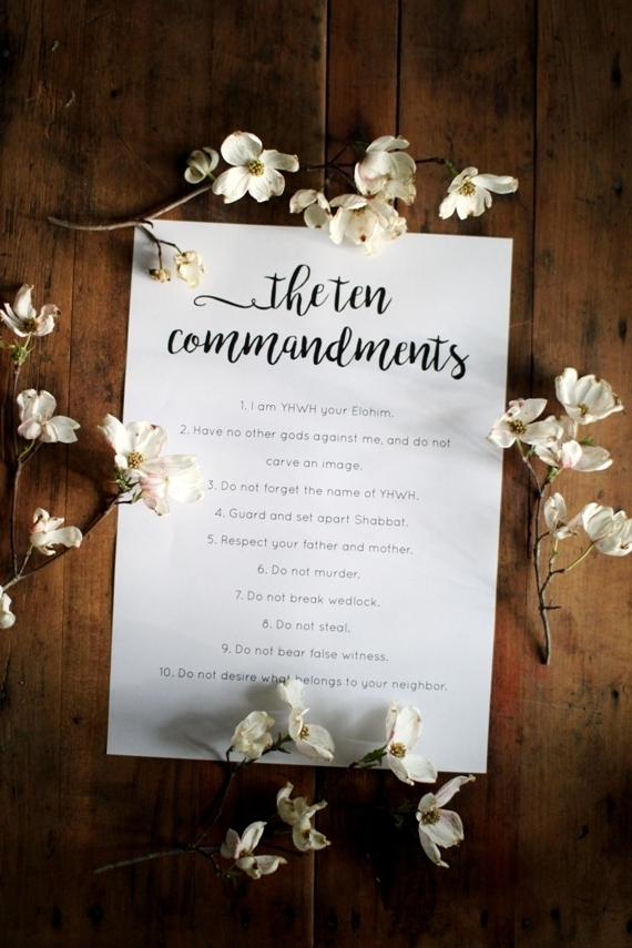 Ten Commandments Printable