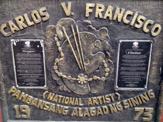 Carlos Francisco's citation as National Artist