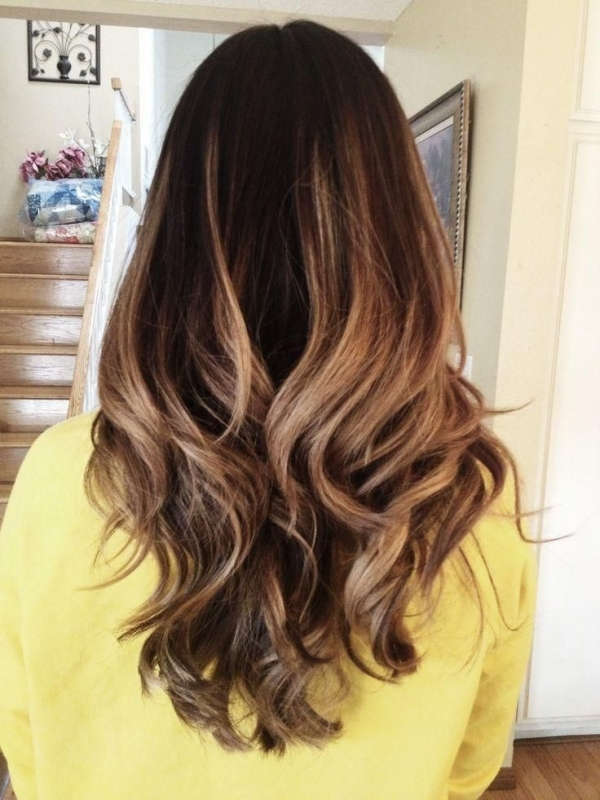 contoh model rambut ombre