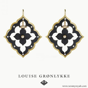 Princess Mary Jewelry LOUISE GRØNLYKKE Gold Diamond Earrings