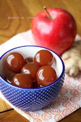 Apple and ginger gummies