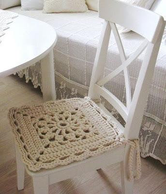 DIY Decoração - Capa Para Banquinho Redondo em Croche Com Barbante - Gráficos e Sugestões 46