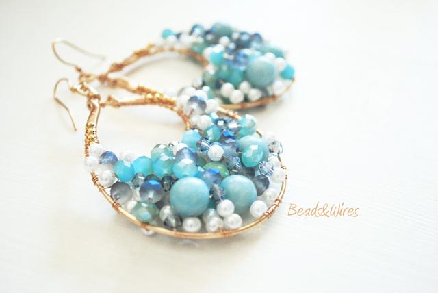 orecchini blu turchesi