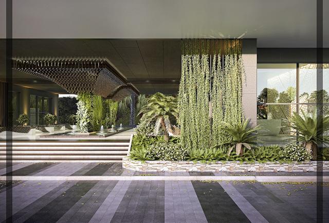 Không gian xanh tại chung cư Marriot Đà nẵng