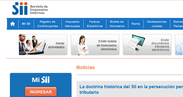 http://home.sii.cl/
