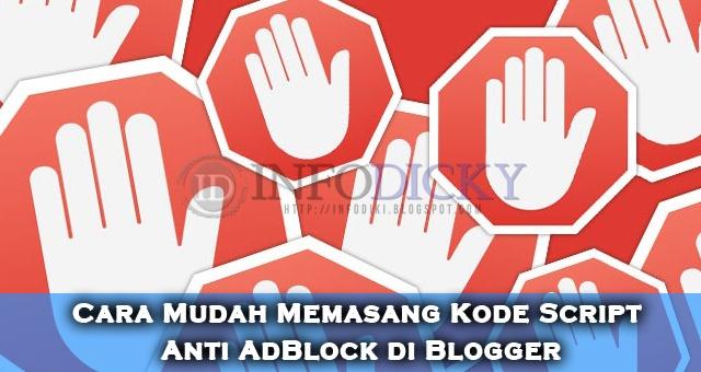 Cara Mudah Memasang Kode Script Anti AdBlock di Blogger