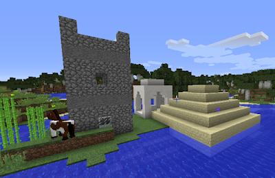 une pyramide dans Minecraft
