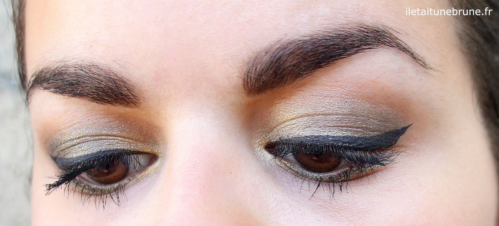 maquillage des yeux kaki