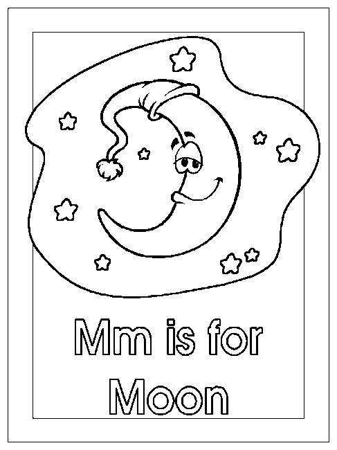printable june moon coloring pages - photo#47