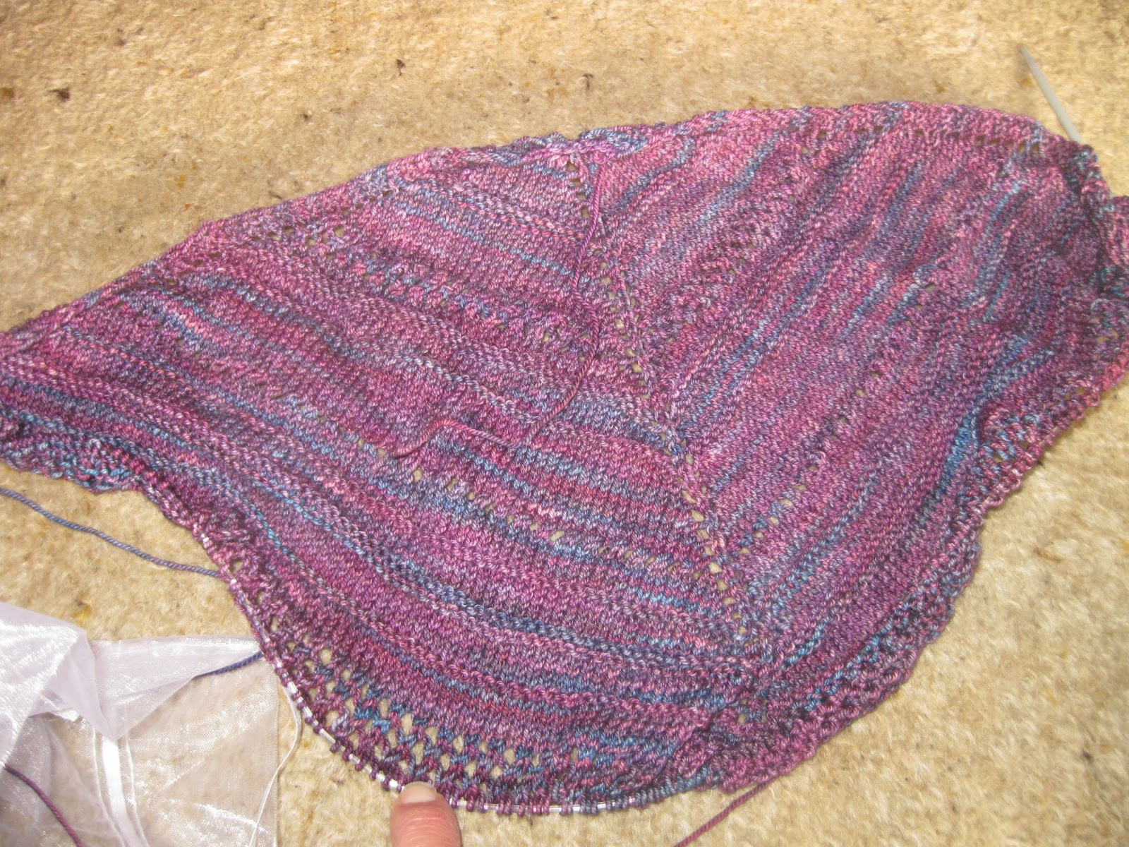 Knitting Lifelines In Lace : Prism shawl