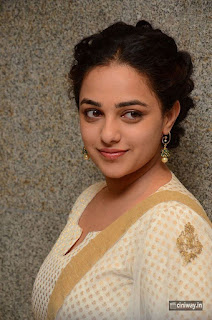 Nithya Menen Stills at 100 Days of Love Movie Press Meet