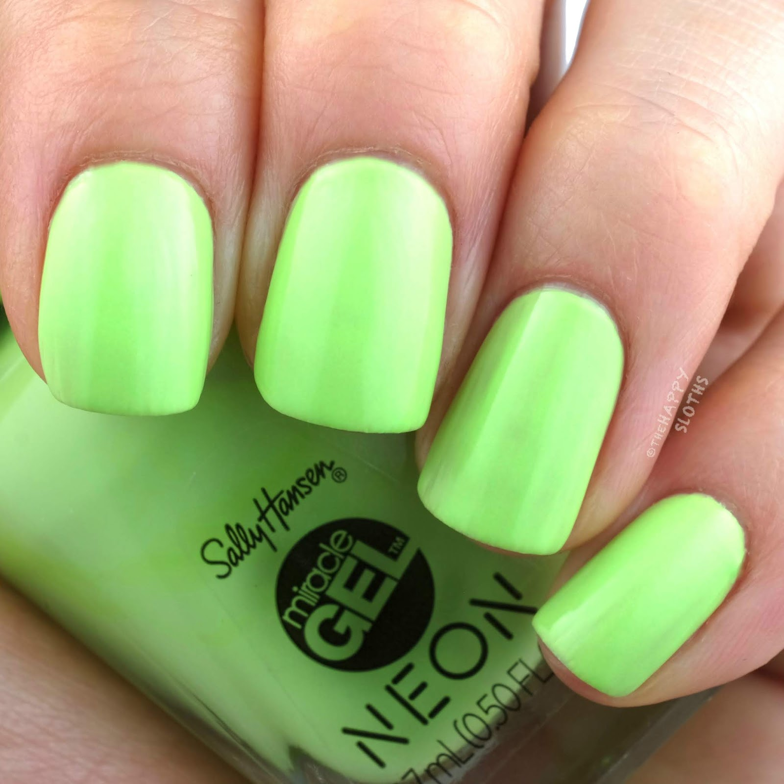 Sally Hansen | Miracle Gel Summer 2019 Neon Collection | Electri-lime: Review and Swatches